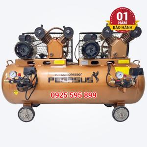 Máy nén khí dây đai Pegasus TM-V-0.25/8x2-230L (2 đầu nén, 2 mô tơ)